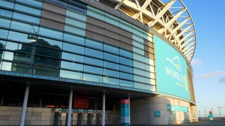 the famous soccer Stadium Wembley London - LONDON, ENGLAND - DECEMBER 10, 2019