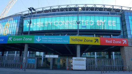entrance of Wembley Stadium London - LONDON, ENGLAND - DECEMBER 10, 2019