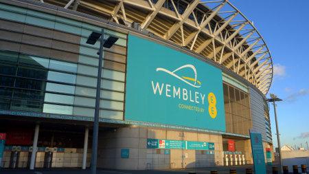 modern Wembley Stadium in London - LONDON, ENGLAND - DECEMBER 10, 2019