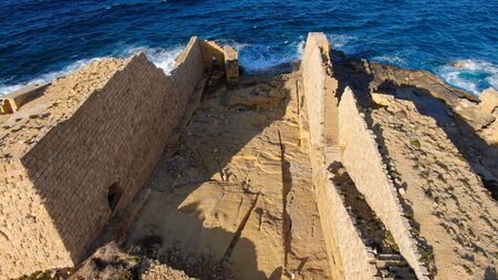 Ancient ruins on the island of Malta Archivio Fotografico