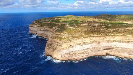 Wonderful coast line of Gozo Malta from above