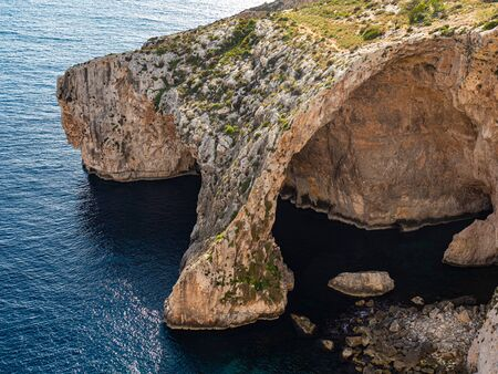 Blue Grotto is a famous landmark on the island of Malta - travel photography