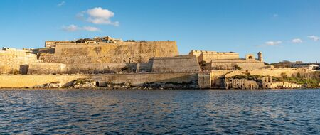 Skyline of Valletta from Sliema harbour - travel photography
