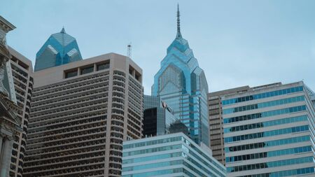 Philadelphia skyscrapers One Liberty Place and Two Liberty Place - travel photography