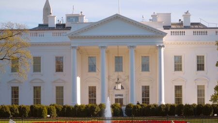 Front of The White House in Washington - home and office of the US President - travel photography