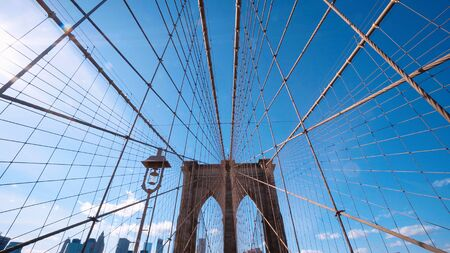 Impressive Brooklyn Bridge New York - amazing wide angle shot - travel photography