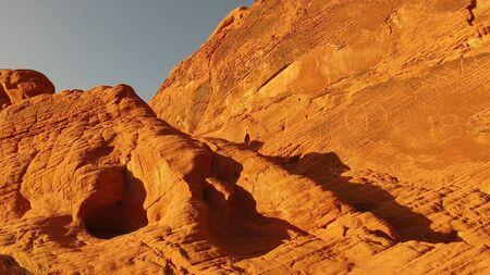 Beautful red rocks in the Valley of Fire in Nevada