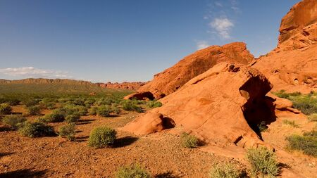 Hot and sunny day in the Valley of Fire