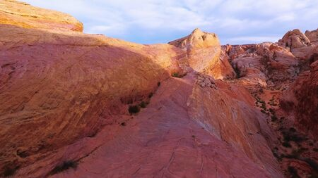 Beautful red rocks in the Valley of Fire in Nevada - travel photography