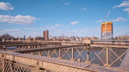 Wonderful Brooklyn Bridge - an important landmark of New York - travel photography Stock fotó
