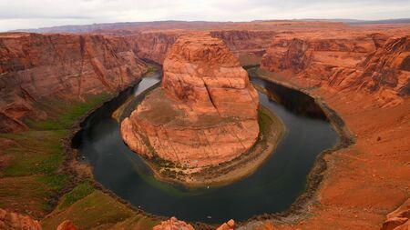 Horseshoe Bend Overview in Arizona - travel photography Stock Photo