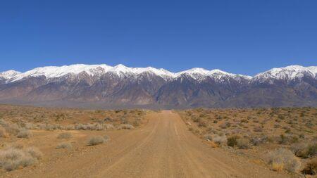 Unpaved road through the Sierra Nevada