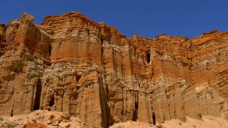 Scenic desert cliffs and buttes at Red Rock Canyon State Park