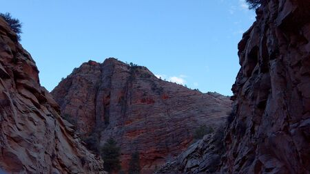 Zion Canyon National Park in the evening