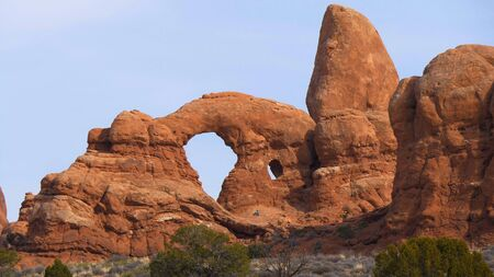 Wonderful red rock sculptures at Arches National Park Utah - travel photography
