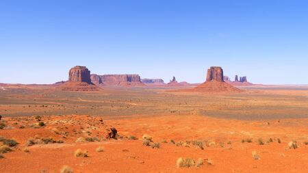 Famous Monument Valley in the desert of Utah - travel photography