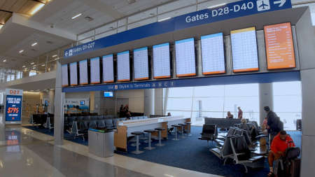 Departure Gates at Dallas Fort Worth Airport - DALLAS, TEXAS - JUNE 20, 2019
