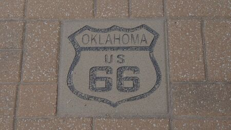 US 66 Route 66 in Oklahoma Banque d'images