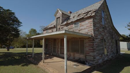 Lost places - old abandoned wooden house at Route 66