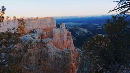 Awesome wide angle view over Bryce Canyon National Park in Utah Zdjęcie Seryjne