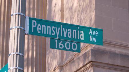 Pennsylvania Avenue in Washington - address of The White House - travel photography