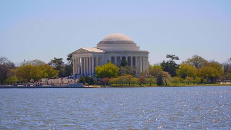 Washington sightseeing - The Jefferson Memorial at Tidal Basin Imagens