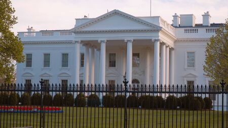 The White House in Washington - home and office of the US President Imagens