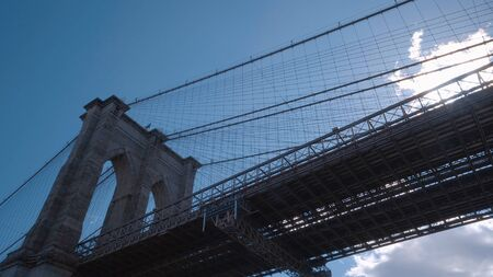 Brooklyn Bridge New York leading from Manhattan to Brooklyn - travel photography