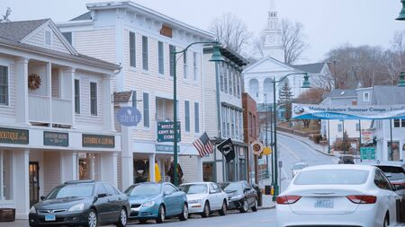 The historic city center of Mystic