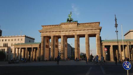 Famous landmark in Berlin - The Brandenburg Gate called Brandenburger Tor - BERLIN, GERMANY - MAY 21, 2018
