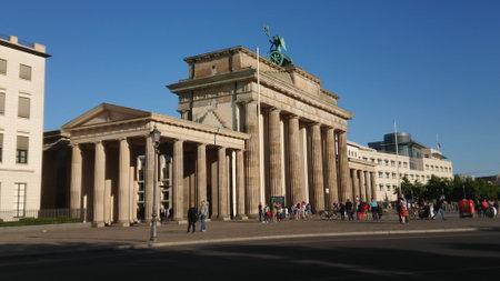 Famous landmark in Berlin - The Brandenburg Gate called Brandenburger Tor - CITY OF BERLIN, GERMANY - MAY 21, 2018