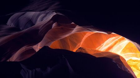 Amazing sandstone structures in the Upper Antelope Canyon Stock fotó