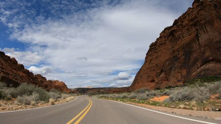 Drive through Snow Canyon in Utah