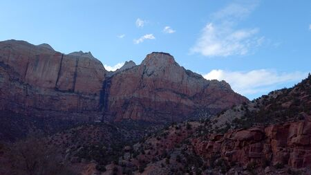 Driving through Zion Canyon National Park in Utah - travel photography Stock fotó