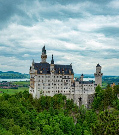 Famous Neuschwanstein Castle in Bavaria Germany Standard-Bild