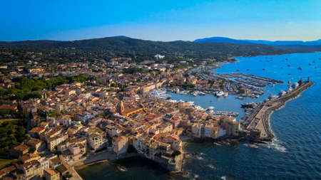 Saint Tropez in France located at the Mediterranian Sea at the Cote D Azur
