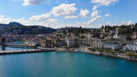 Lake Lucerne in Switzerland also called Vierwaldstaetter See in Switzerland