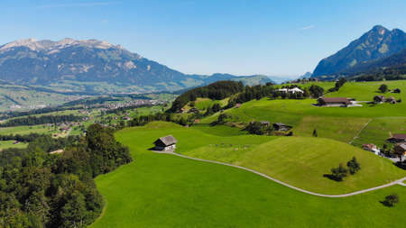 Typical landscape in Switzerland - the Swiss Alps