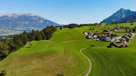 Woderful nature of Switzerland from above Banque d'images