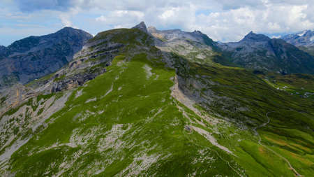 Amazing nature of the Swiss Alps - the Melchsee Frutt district in Switzerland from above Zdjęcie Seryjne