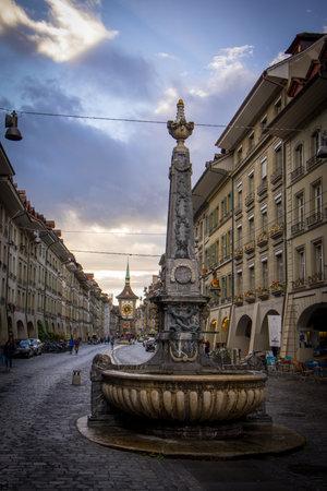 Wonderful historic city center of Bern in Switzerland - COUNTY OF BERN. SWITZERLAND - OCTOBER 9, 2020 Éditoriale