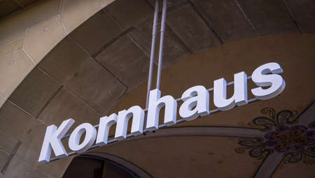 Famous Kornhaus building in Bern Switzerland - COUNTY OF BERN. SWITZERLAND - OCTOBER 9, 2020