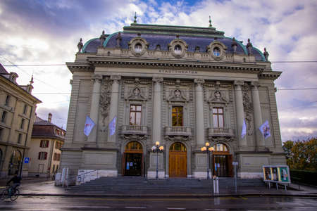 City Theater Bern in the historic old town - COUNTY OF BERN. SWITZERLAND - OCTOBER 9, 2020