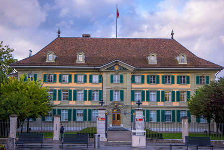 Police Department building in the city center of Bern Switzerland - COUNTY OF BERN. SWITZERLAND - OCTOBER 9, 2020