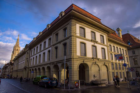 Library in the city center of Bern - COUNTY OF BERN. SWITZERLAND - OCTOBER 9, 2020