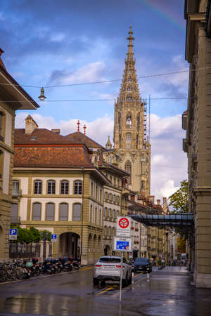 The cathedral of Bern in Switzerland - COUNTY OF BERN. SWITZERLAND - OCTOBER 9, 2020 Éditoriale