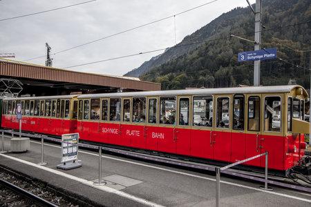 Railway station Wilderswil in Switzerland - COUNTY OF BERN. SWITZERLAND - OCTOBER 9, 2020 Éditoriale