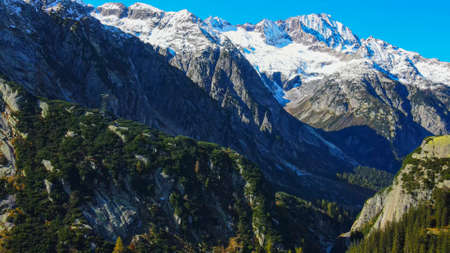 The amazing landscape of the Swiss Alps in Switzerland
