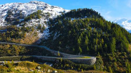 The beautiful Grimselpass in the Swiss Alps - Switzerland from above Standard-Bild