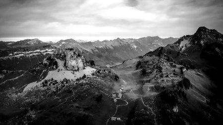 Popularf tourist hotspot in the Swiss Alps called Schynige Platt